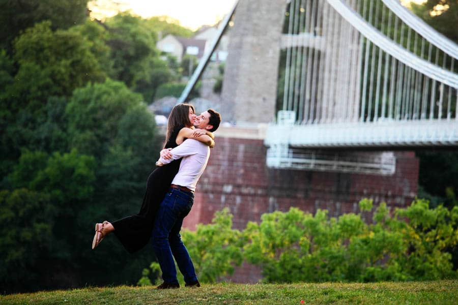 clifton suspension bridge engagement session-50