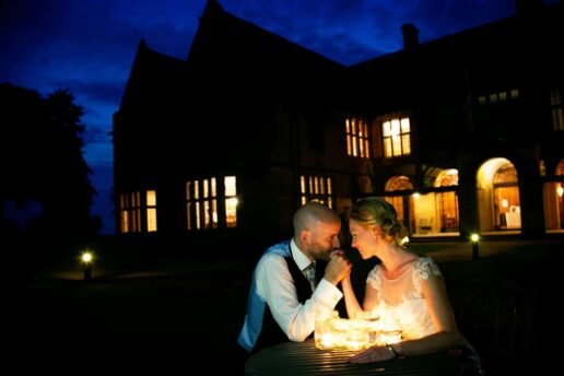 outdoor wedding at coombe lodge
