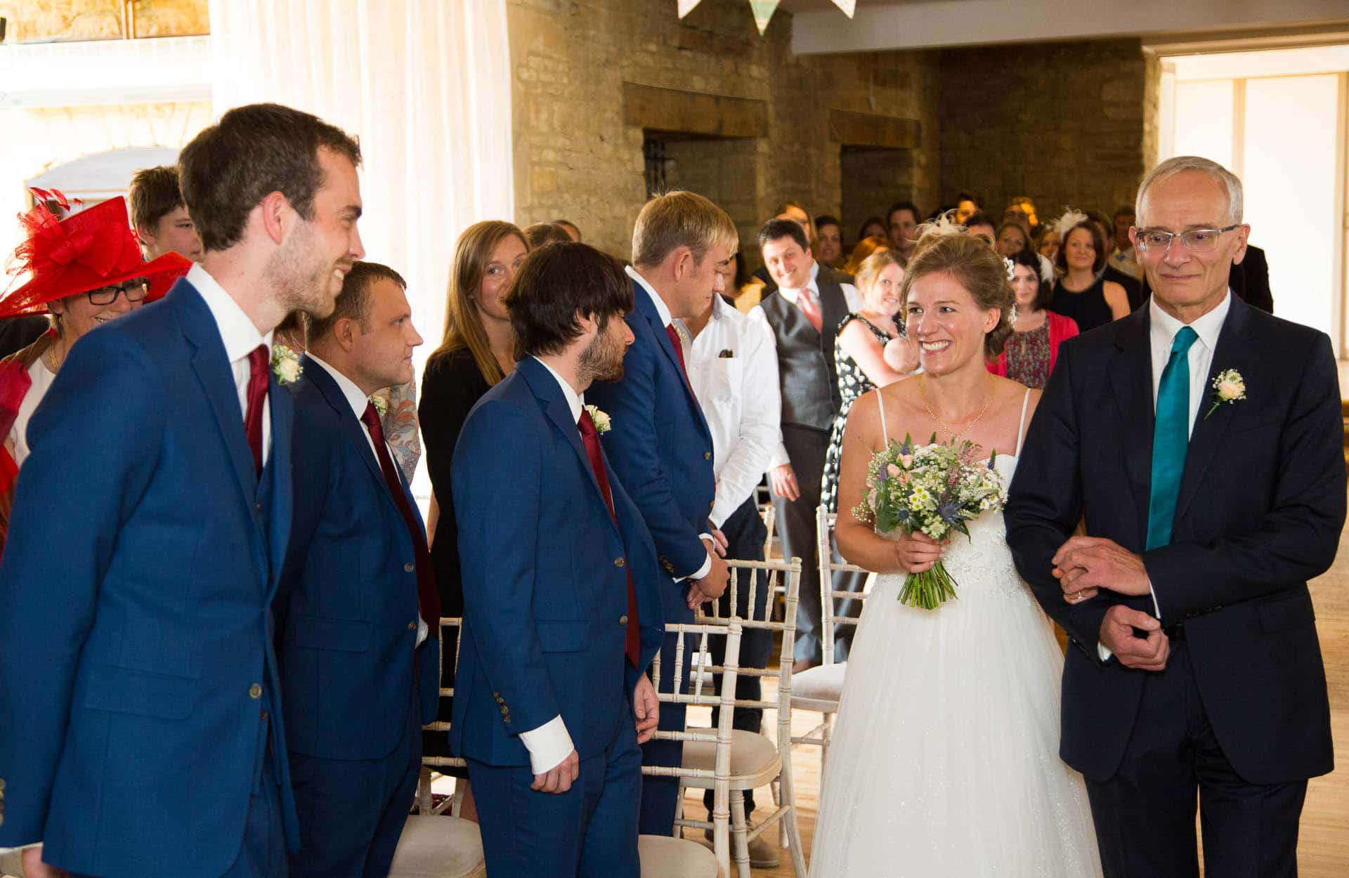 great tythe barn wedding - ceremony