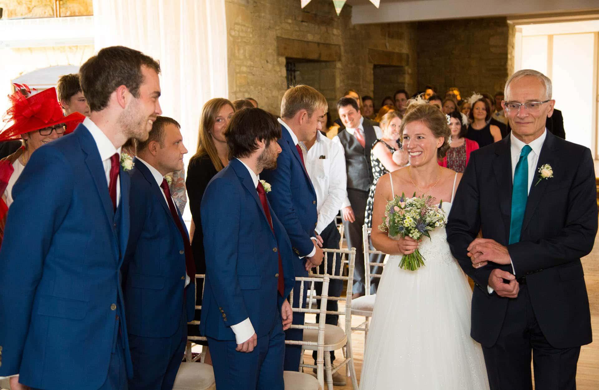 great tythe barn wedding - ceremony