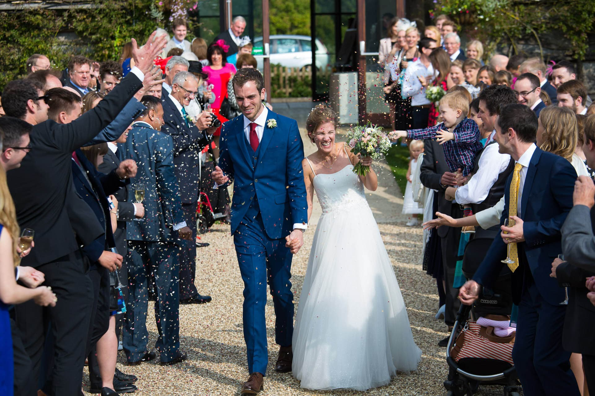 great tythe barn wedding confetti