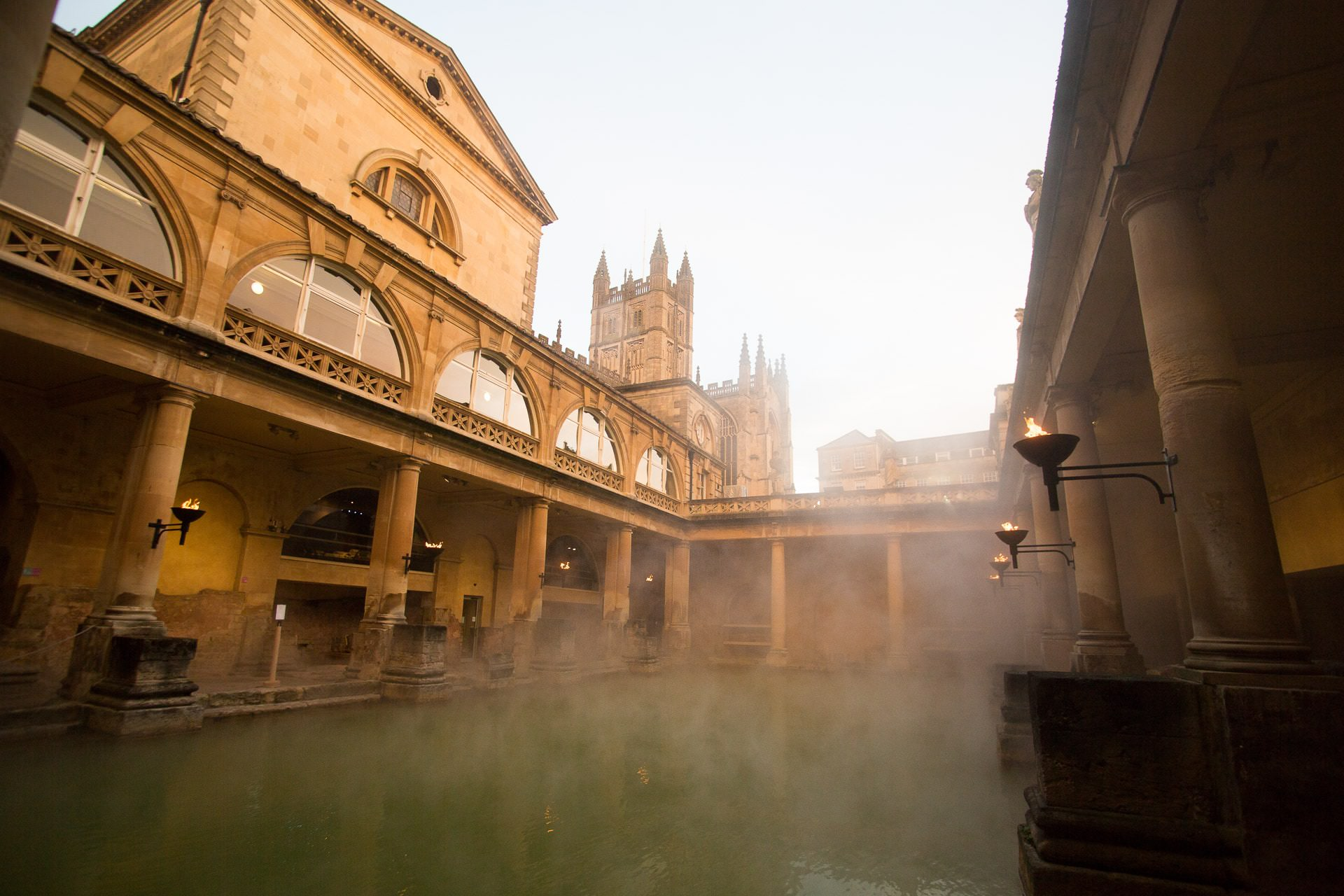 roman baths wedding