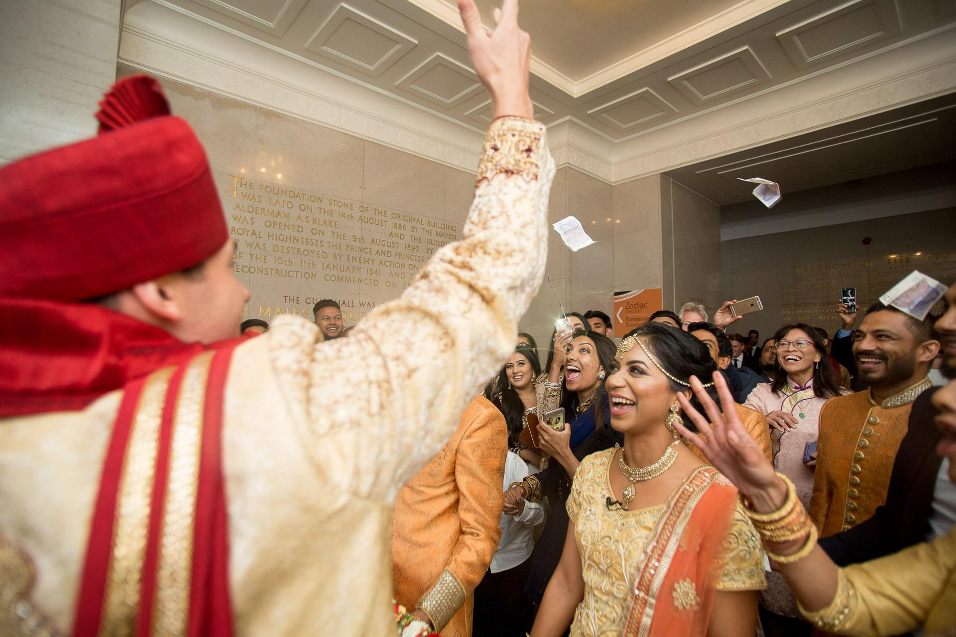 asian wedding photography portsmouth guildhall 09