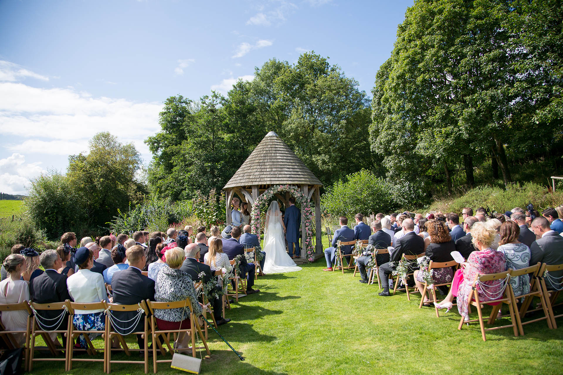 outdoor ceremony at priston mill somerset