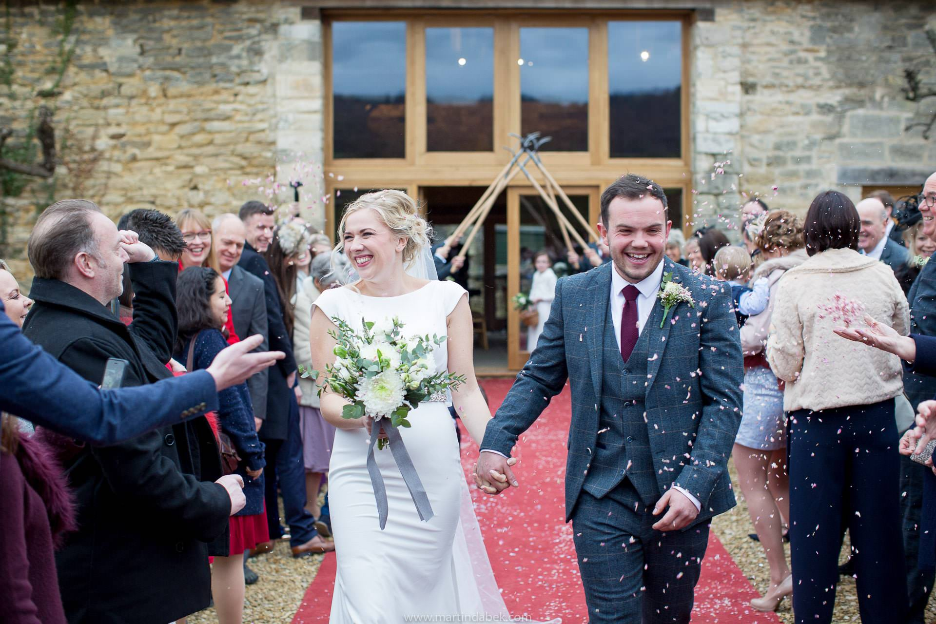 winter wedding at saxon barn