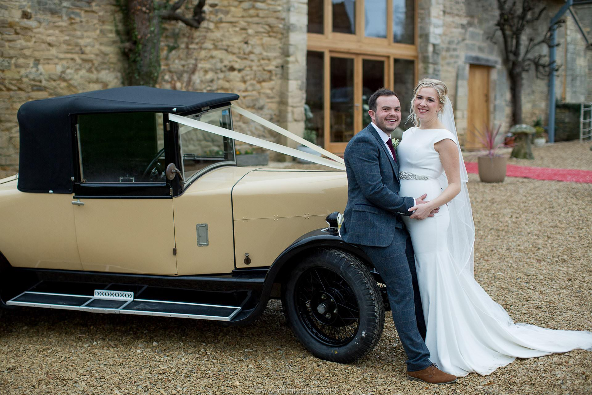 hampton wedding vintage car