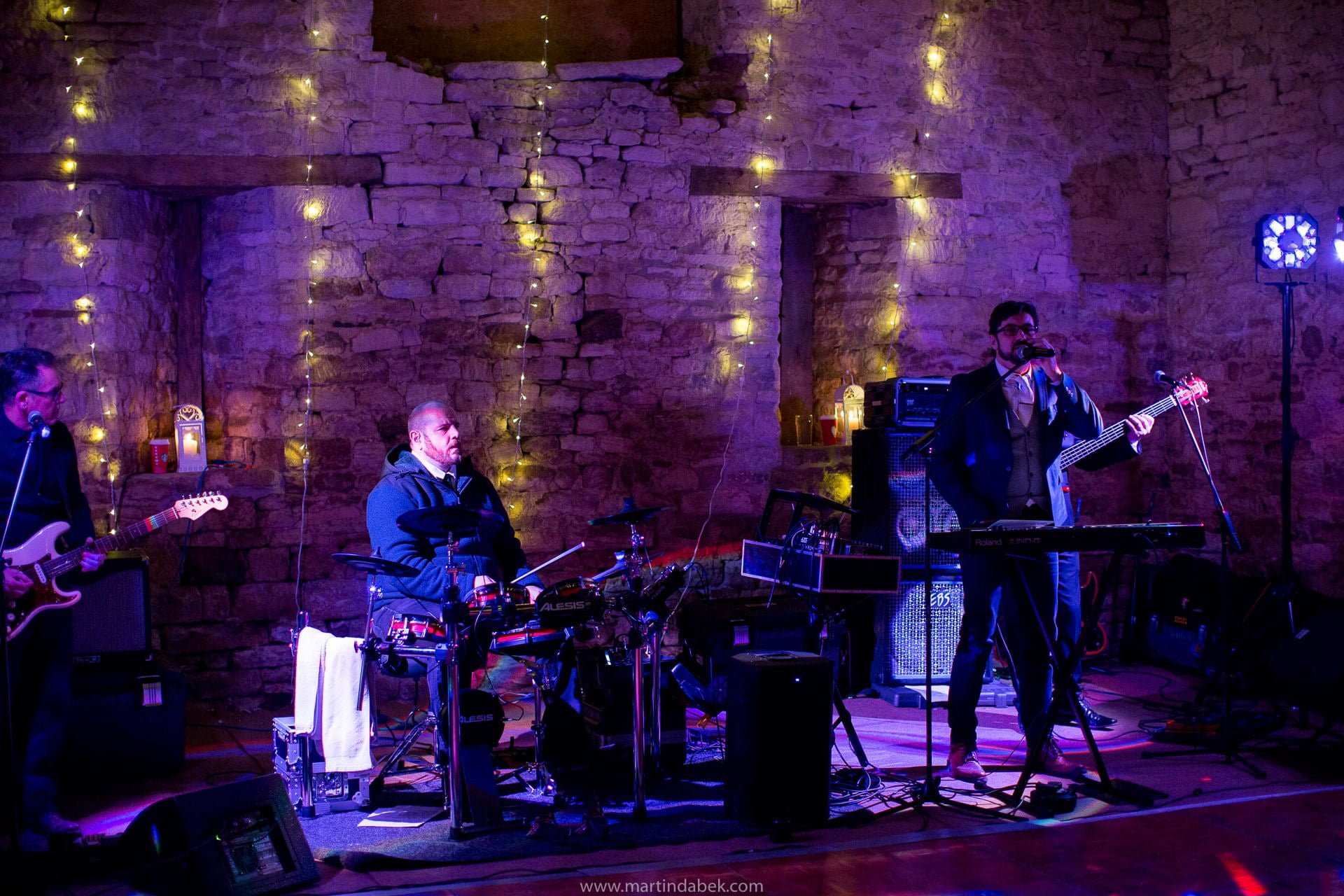 Tommy and The Fuse playing at Saxon barn wedding