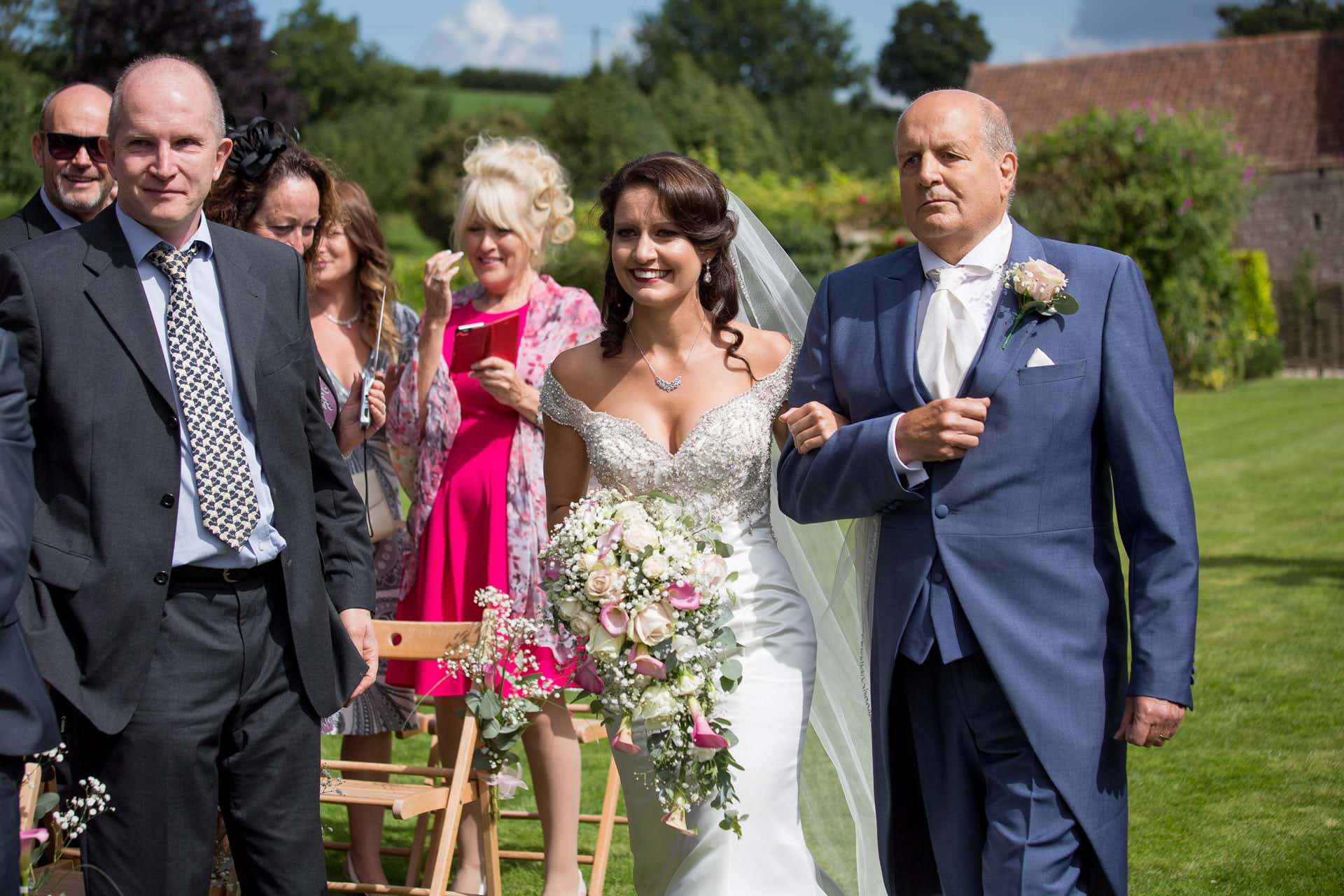 outdoor ceremony at priston mill