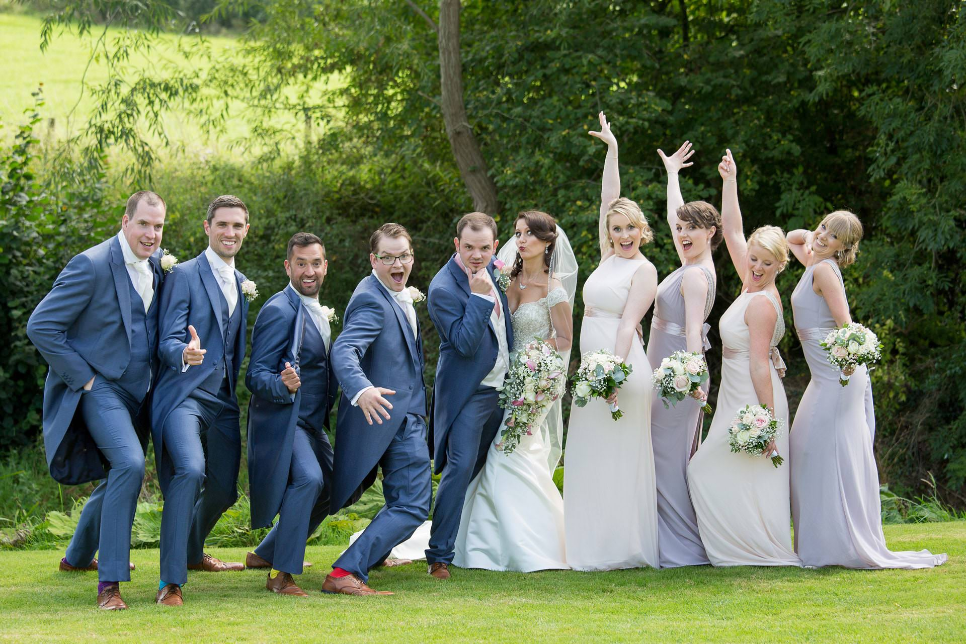 bridal party at priston mill