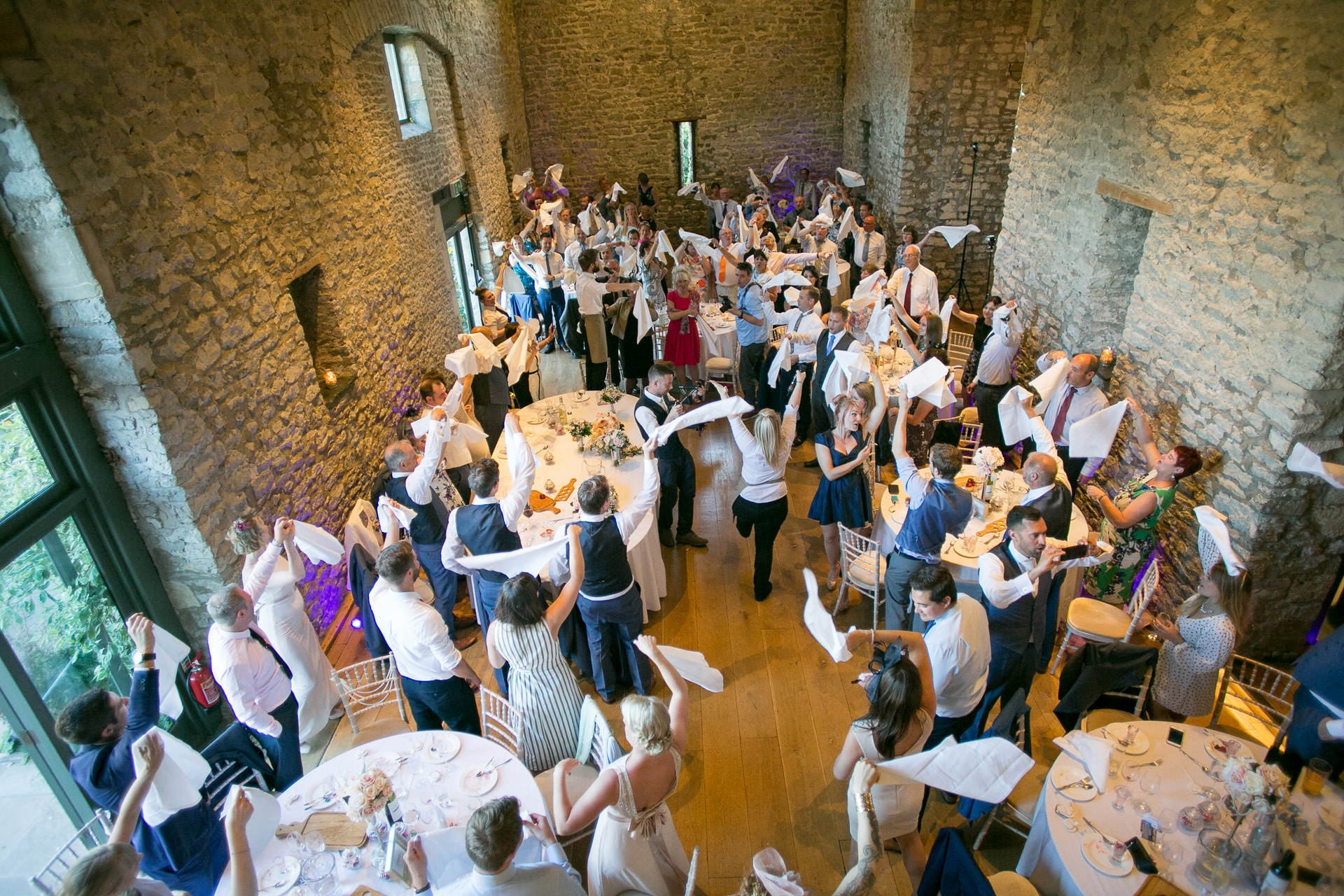 singing waitres at priston mill wedding
