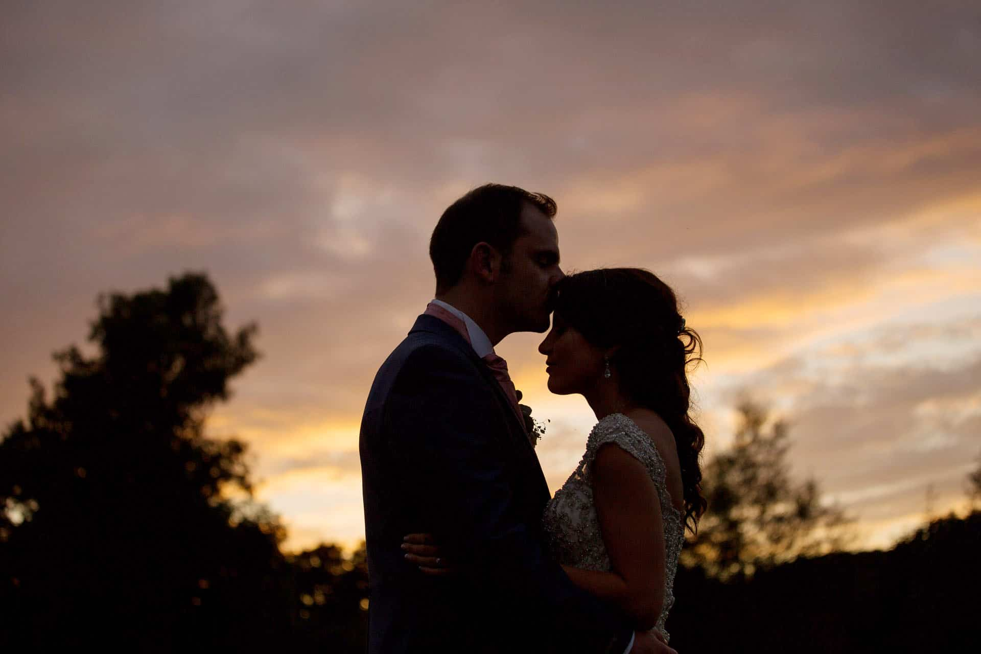 sunset wedding photography priston mill