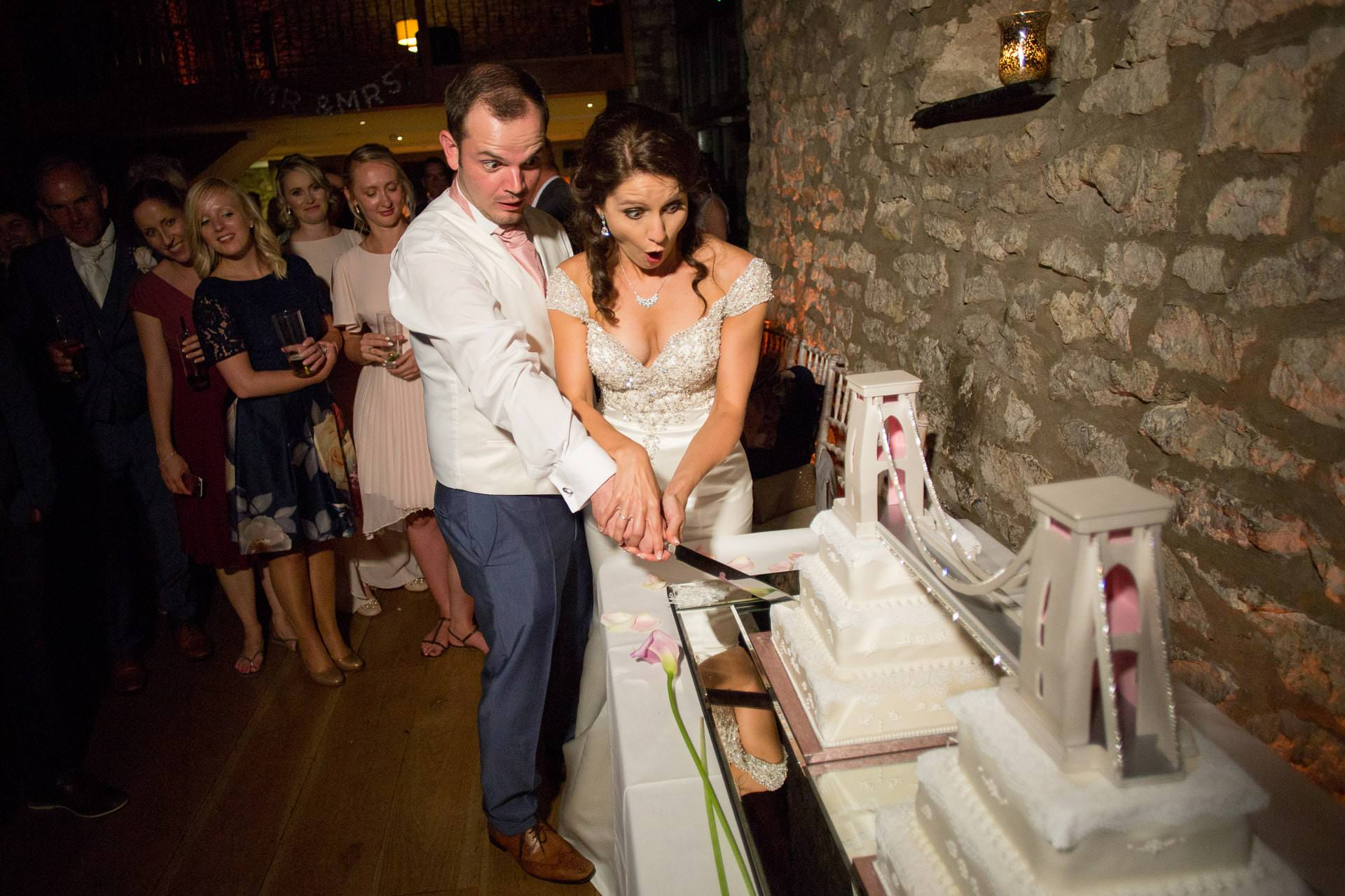 cake cutting priston mill wedding