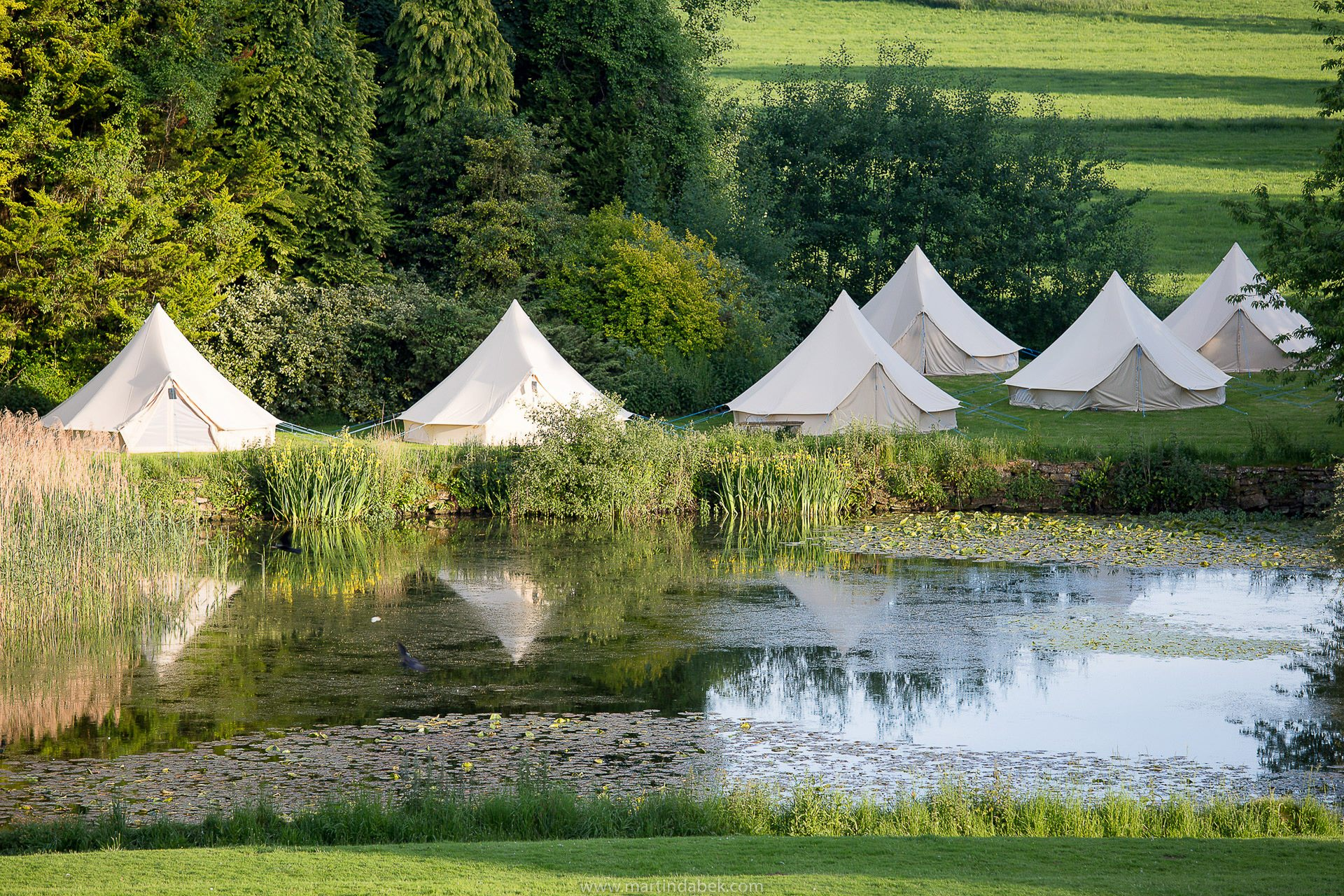 bell tents at brympton house