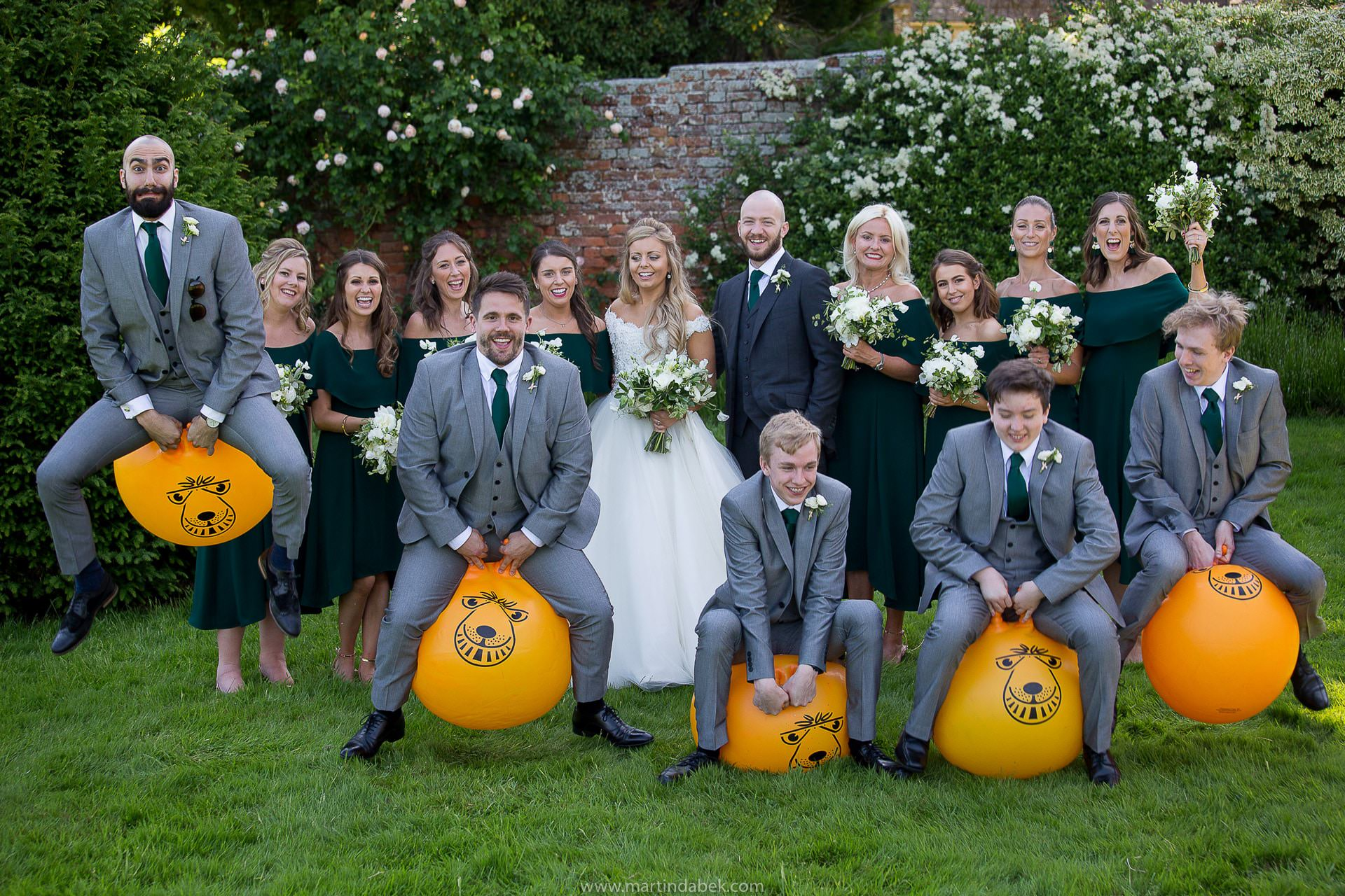 bridal party at brympton house