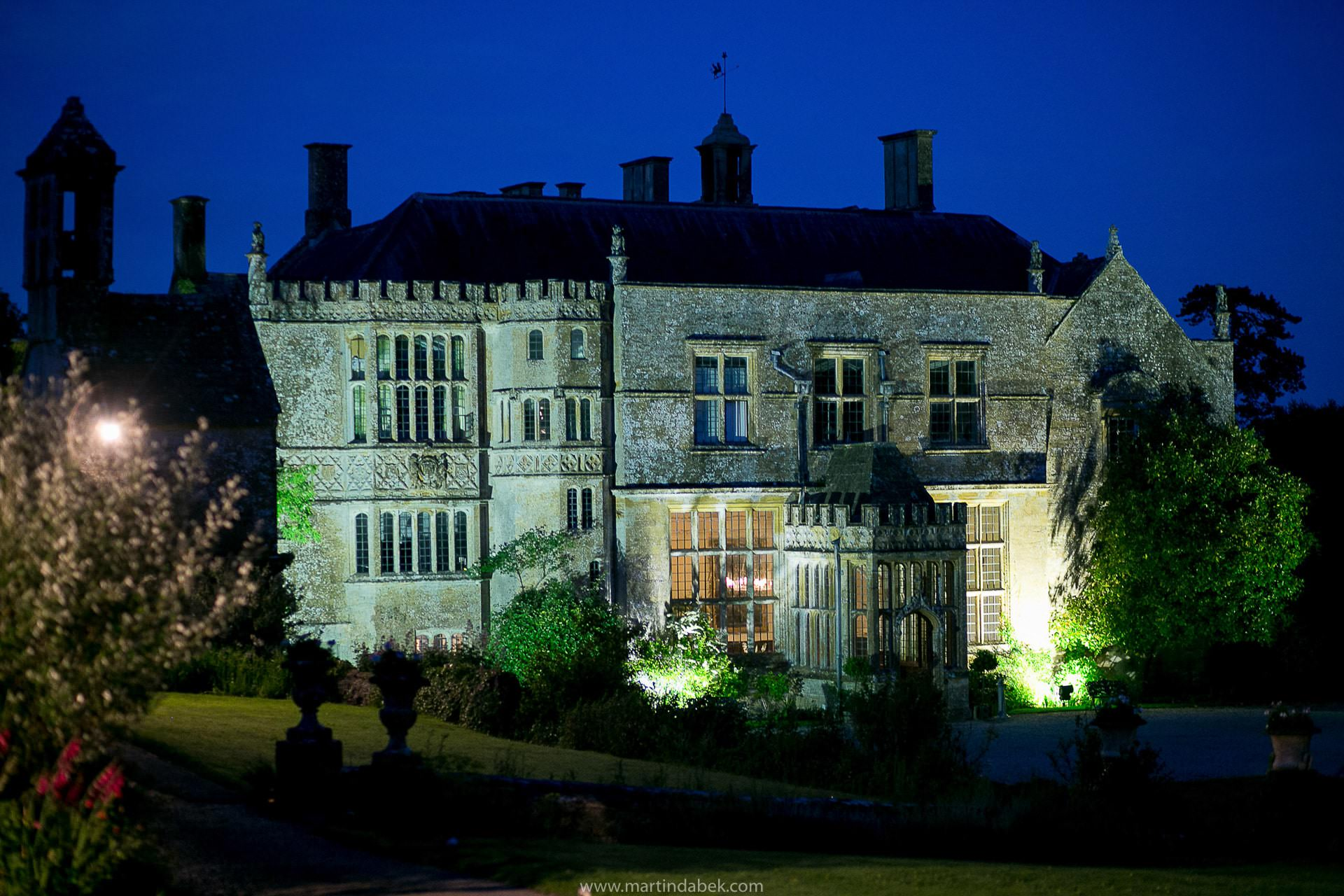 brympton house at night