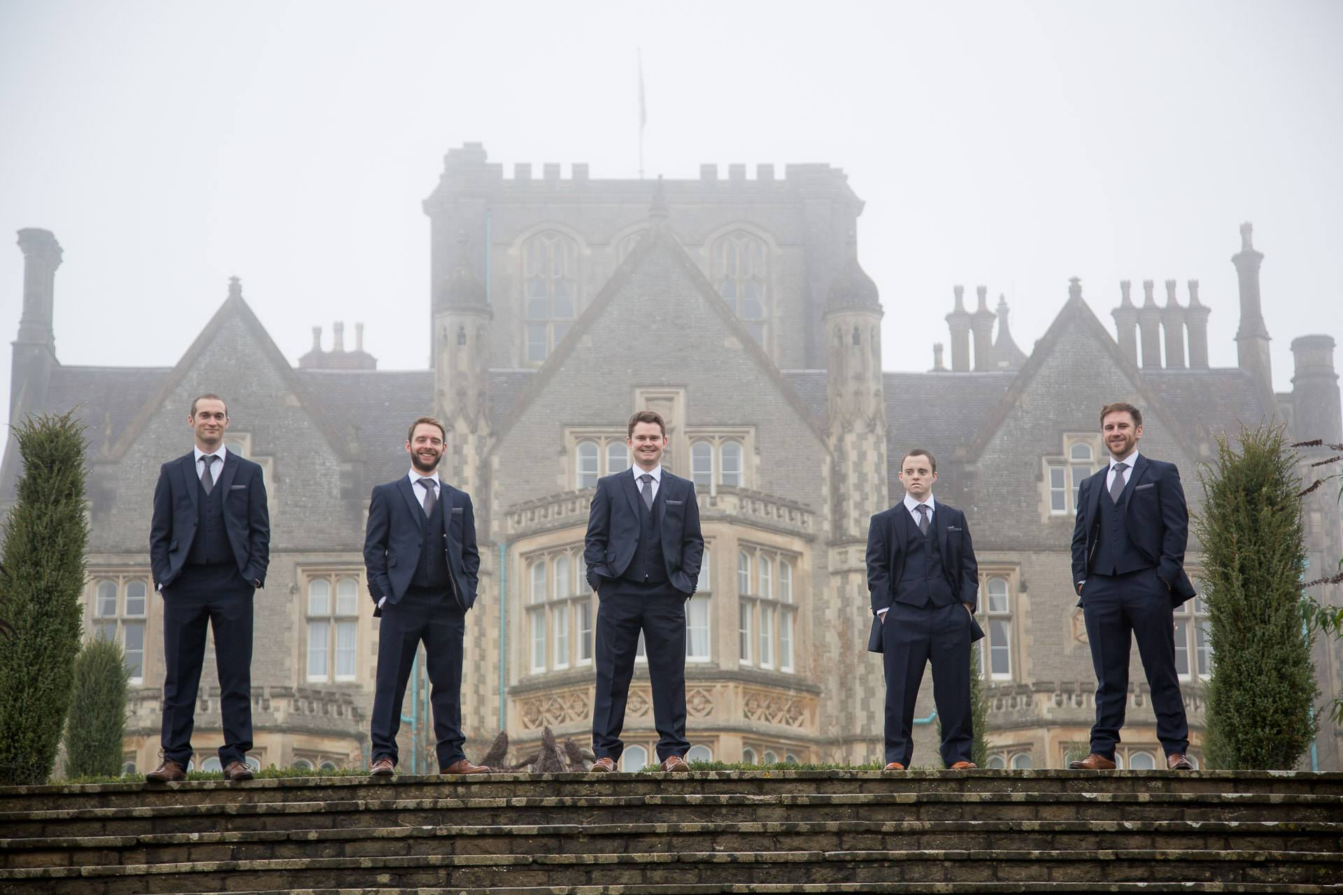 groomsmen at tortworth court wedding