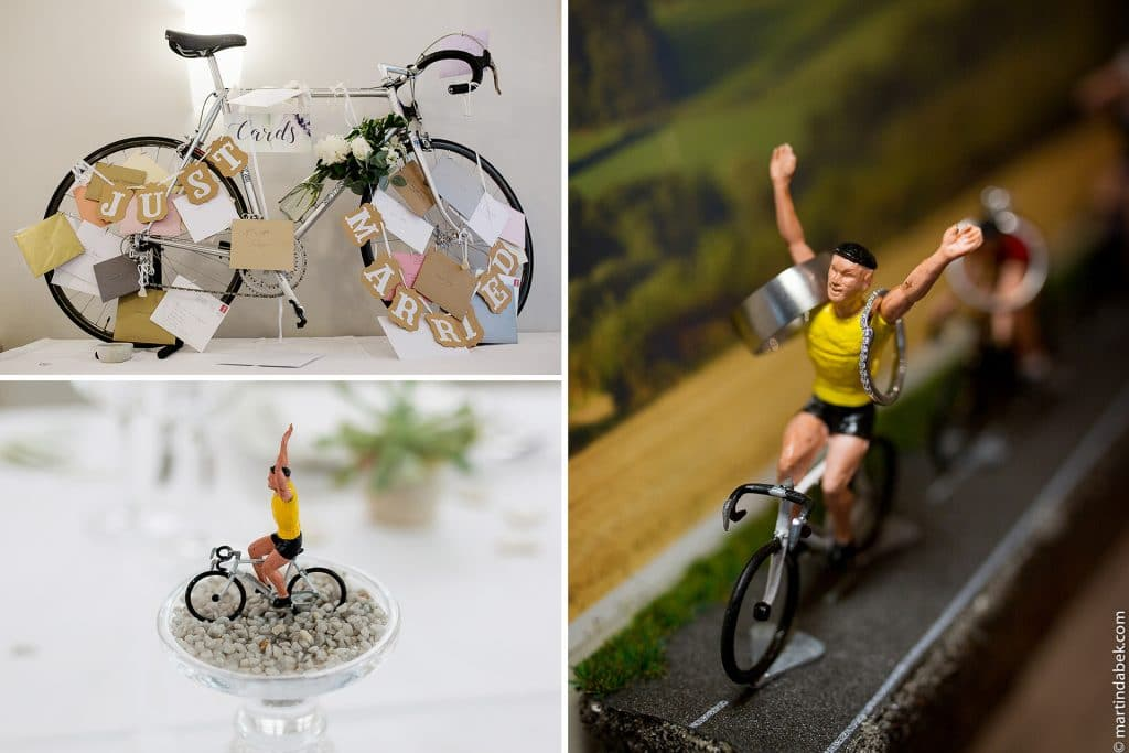 cycling theme wedding