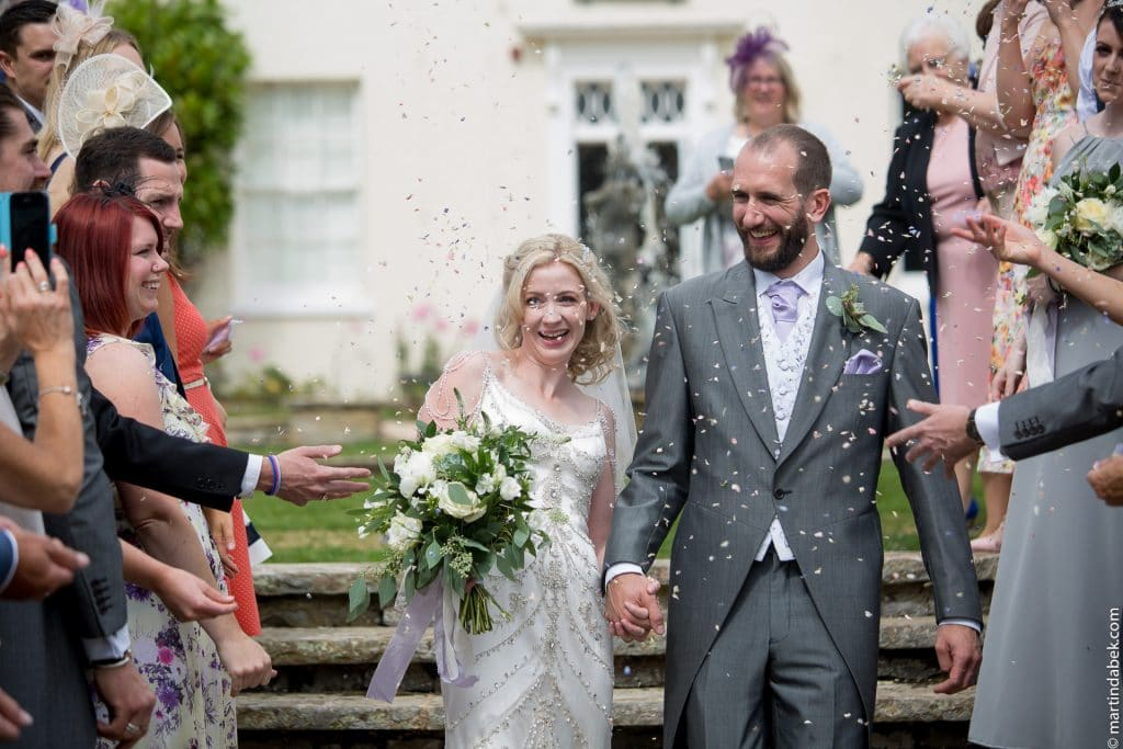 confetti at Rockbeare manor wedding