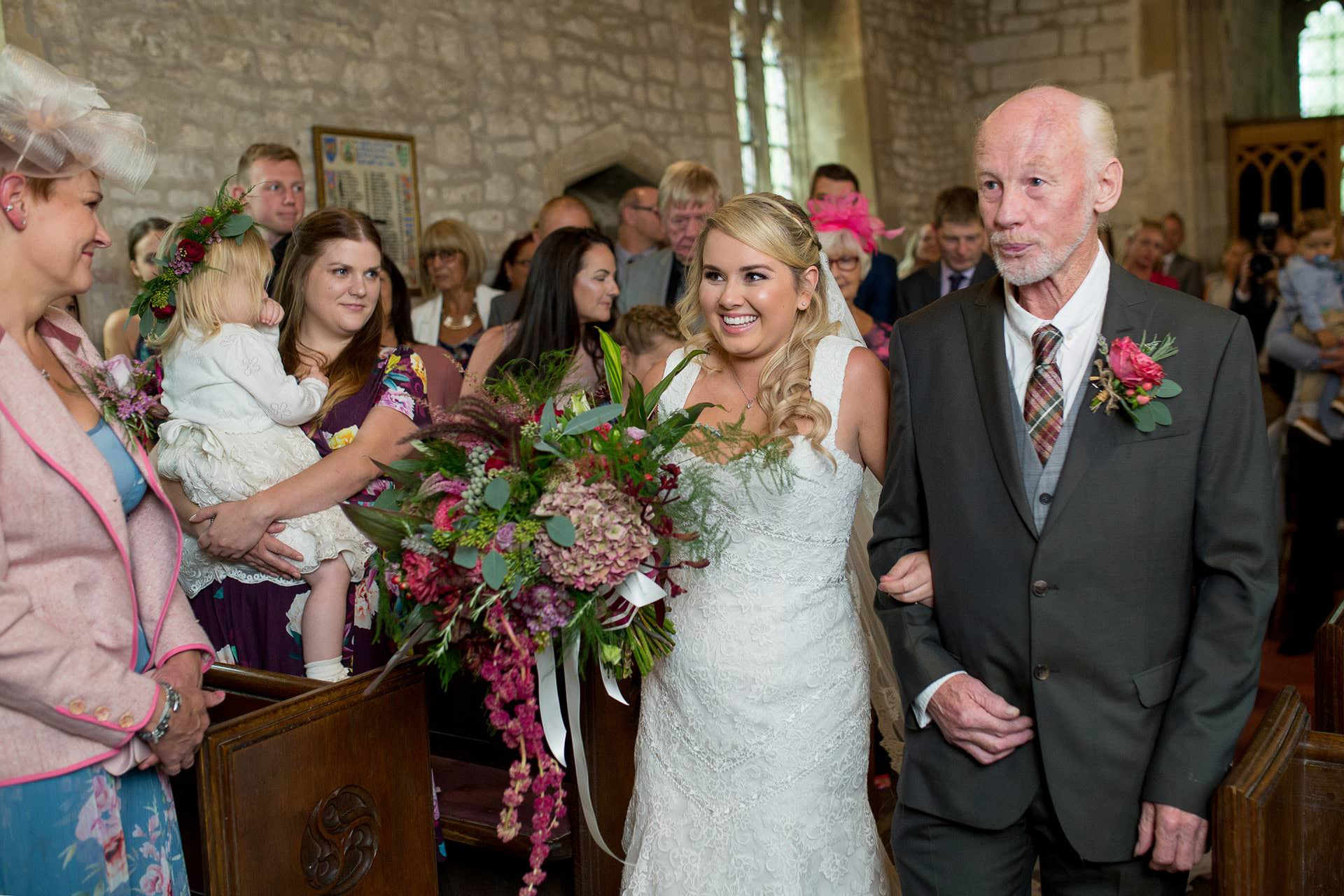 st mary church calstone wedding