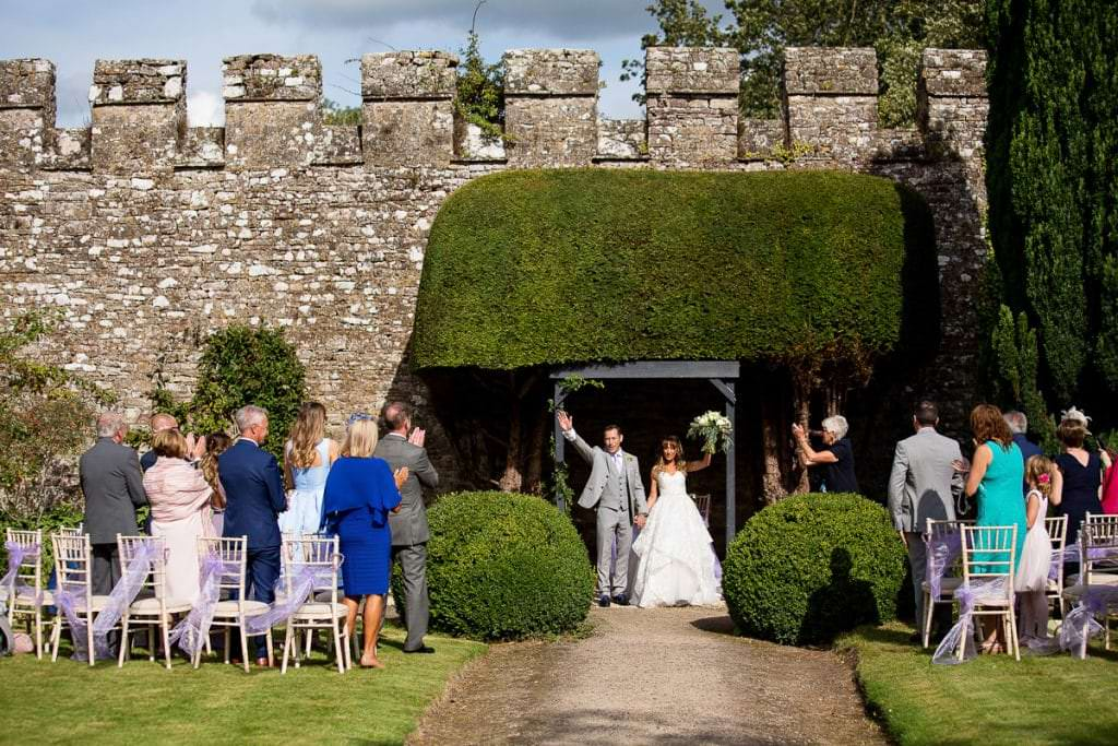 thornbury castle outdoor wedding
