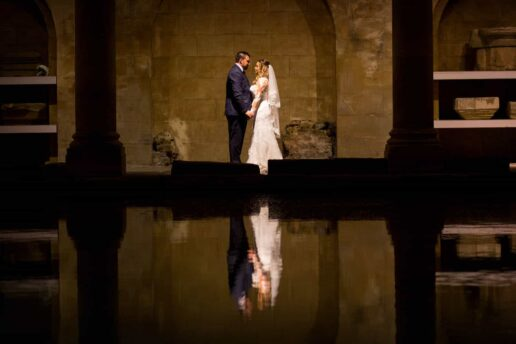 sunset ceremony at the roman baths