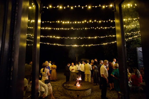fairylights at the old stables at brympton house