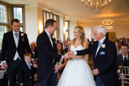 ceremony at coombe lodge