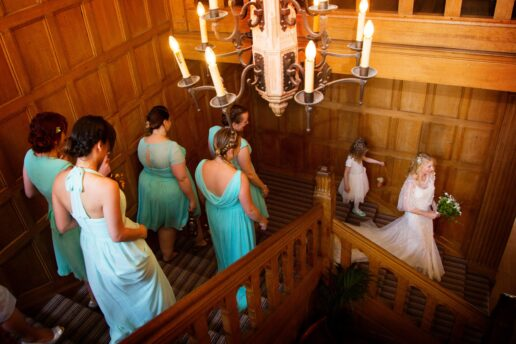 stairs at coombe lodge