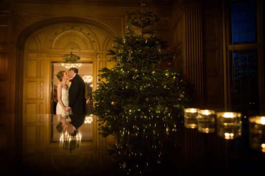 winter wedding at coombe lodge