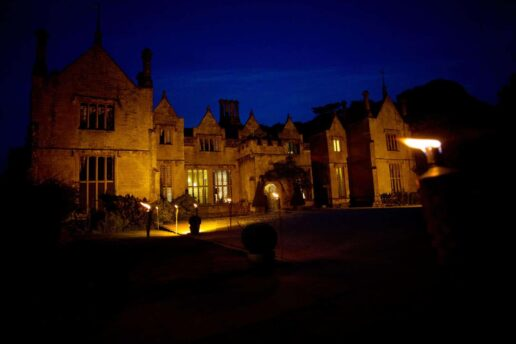night shot of dillington house
