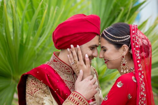 sikh wedding couple captured by bristol asian wedding photographer