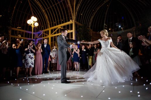 first dance in the orangery at de vere tortworth court