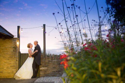 bride and groom at winkworth farm