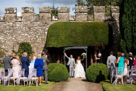 outdoor ceremony at tudor garden at thornbury castle