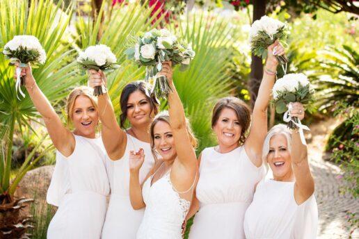 bridesmaids at hilton vilamoura in algarve