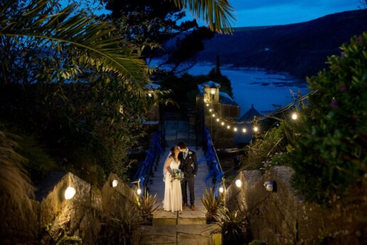 polhawn fort wedding photography at night